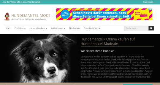 Hundemantel Mode